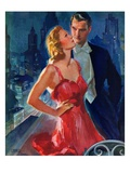 """Formal Couple on Balcony ""July 30  1938"