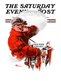 """""""Pennants for Sale """" Saturday Evening Post Cover  November 24  1923"""