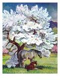 """Horses and Tree Blossoms ""May 1  1940"