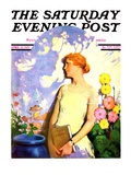 """""""Shadow Lover """" Saturday Evening Post Cover  April 13  1929"""