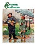 """Waiting for Bus in Rain "" Country Gentleman Cover  April 1  1948"