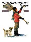 """Snow Shoveler "" Saturday Evening Post Cover  January 3  1931"