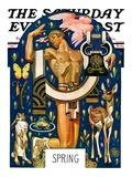 """Spring 1929,"" Saturday Evening Post Cover, March 30, 1929 Giclée par Joseph Christian Leyendecker"