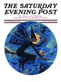 """Witches Night Out "" Saturday Evening Post Cover  October 29  1927"