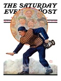 """""""Safe at the Plate """" Saturday Evening Post Cover  September 29  1928"""