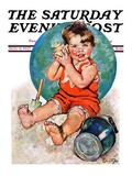 """""""Sea in the Shell """" Saturday Evening Post Cover  August 6  1927"""