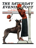 """Tipping the Scales "" Saturday Evening Post Cover  October 13  1923"