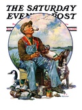 """Decoys "" Saturday Evening Post Cover  October 5  1929"