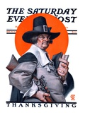 """Pilgrim "" Saturday Evening Post Cover  November 29  1924"