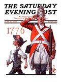 """Fourth of July  1776 "" Saturday Evening Post Cover  June 30  1923"