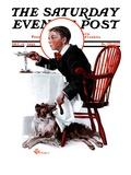 """Table Scraps "" Saturday Evening Post Cover  December 15  1923"