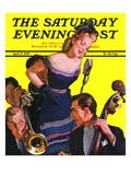 """Big Band and Songstress "" Saturday Evening Post Cover  April 15  1939"