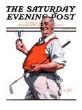 """""""Golf Trophy """" Saturday Evening Post Cover  June 6  1925"""