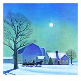 """""""Moonlit Sleighride,""""December 1, 1943 Giclée par Kent Rockwell"""