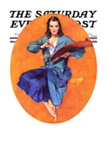"""""""Artist and Her Palette """" Saturday Evening Post Cover  September 9  1933"""