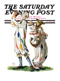 """""""Musical Clowns """" Saturday Evening Post Cover  August 10  1929"""