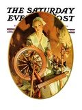 """Spinning Wheel "" Saturday Evening Post Cover  March 14  1931"