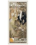 Flirt, 1899 Giclée par Alphonse Mucha