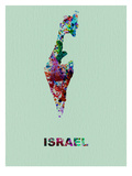 Israel Color Splatter Map