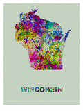 Wisconsin Color Splatter Map