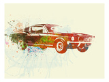 Ford Mustang Watercolor