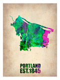 Portland Watercolor Map