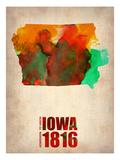 Iowa Watercolor Map