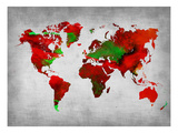 World Watercolor Map 11