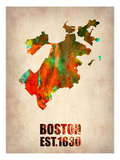Boston Watercolor Map