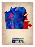 San Francisco Watercolor Map