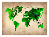 World Watercolor Map 6
