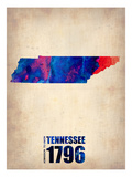 Tennessee Watercolor Map