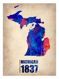 Michigan Watercolor Map
