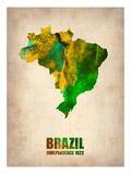 Brazil Watercolor Map