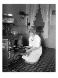 Baking Bread at Home for School Project  ca 1914