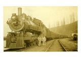 Northern Pacific Locomotive  Point Defiance  Tacoma  WA  ca 1914