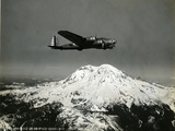 "B-17 ""Flying Fortess"" Bomber over Mt Rainier  1938"