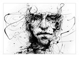 Les lignes retiennent les souvenirs Reproduction d'art par Agnes Cecile