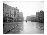 Looking South across Pike St at Fourth  1908