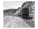 The Olympian  Electric Train in Montana Canyon  1916