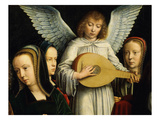 Angel Musician with Saints Agnes (D 305)  Fausta and Apollina (D C 248-9)