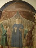 Madonna Del Parto (Madonna of the Birth)  Fresco  Cemetery Chapel  Monterchi  Italy