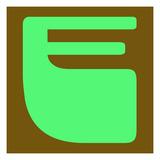 Letter E Green