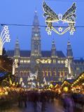 Christmas Markets  Rathaus (Town Hall)  Vienna  Austria