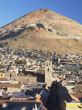 View of Potosi (UNESCO World Heritage Site) with Cerro Rico in Backgound  Bolivia