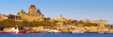 Canada  Quebec  Quebec City  Vieux Quebec or Old Quebec across Saint Lawrence River or Fleuve Saint
