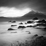 View from Elgol Beach to the Cuillin Hills  Isle of Skye  Scotland  UK