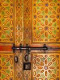 Interior Door Detail  Moulay Ismal Mousoleum  Medina  Meknes  Morocco