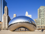 USA  Illinois  Chicago  the Cloud Gate Sculpture in Millenium Park