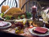 Stuffed Turkey on Thanksgiving Table (USA)